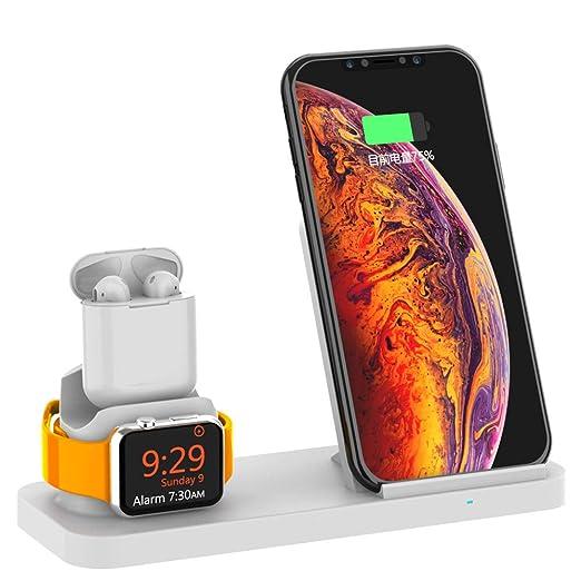 Xflelectronic Cargador inalámbrico Qi 10W para iPhone XS MAX ...