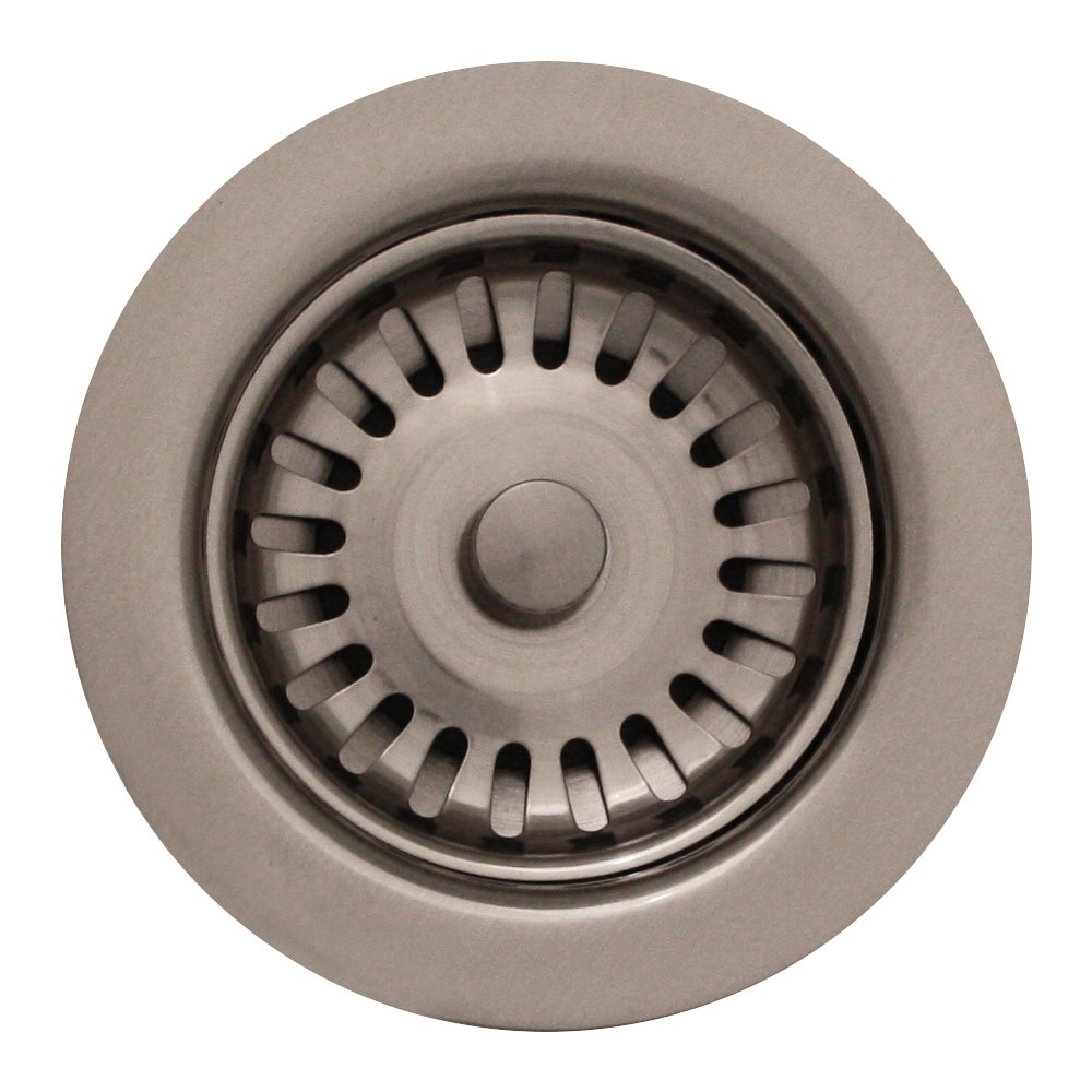 Whitehaus RNW35L-BN 3-1/2-Inch Basket Strainer for Deep Fireclay Applications, Brushed Nickel