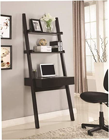 Escritorio de Madera y Estilo para Pared con Escalera para Escritura, Color marrón: Amazon.es: Hogar