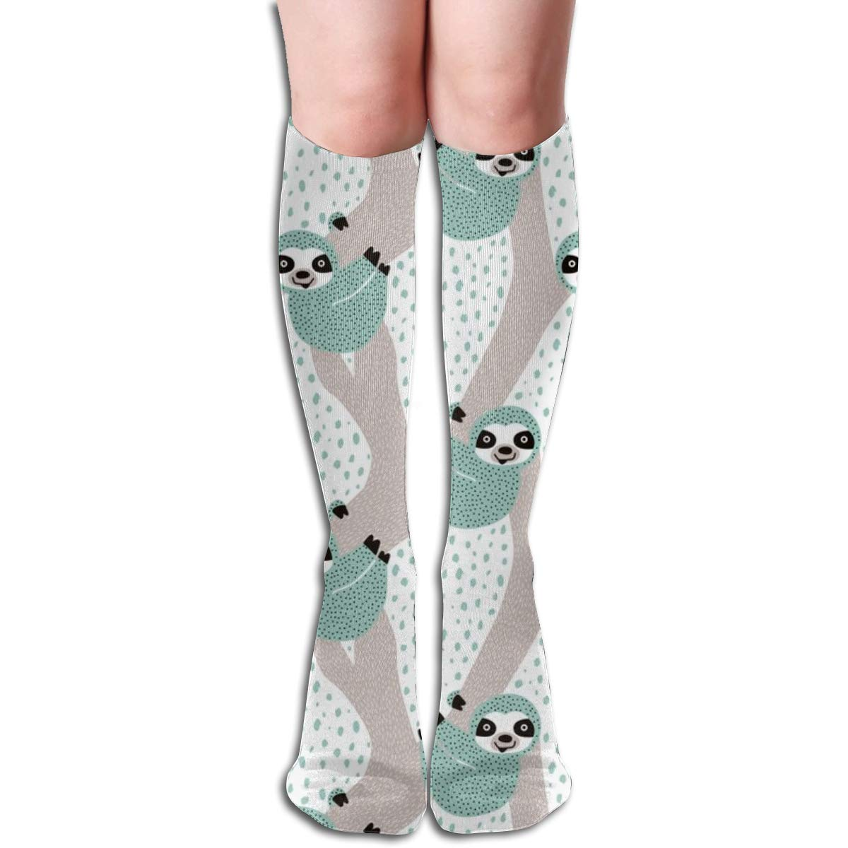 Blue Sloths Just Hang In These Pura Vida Jungle Animals Boys Elastic Mix 50cm High Socks Sports Stockings Long Compression Socks