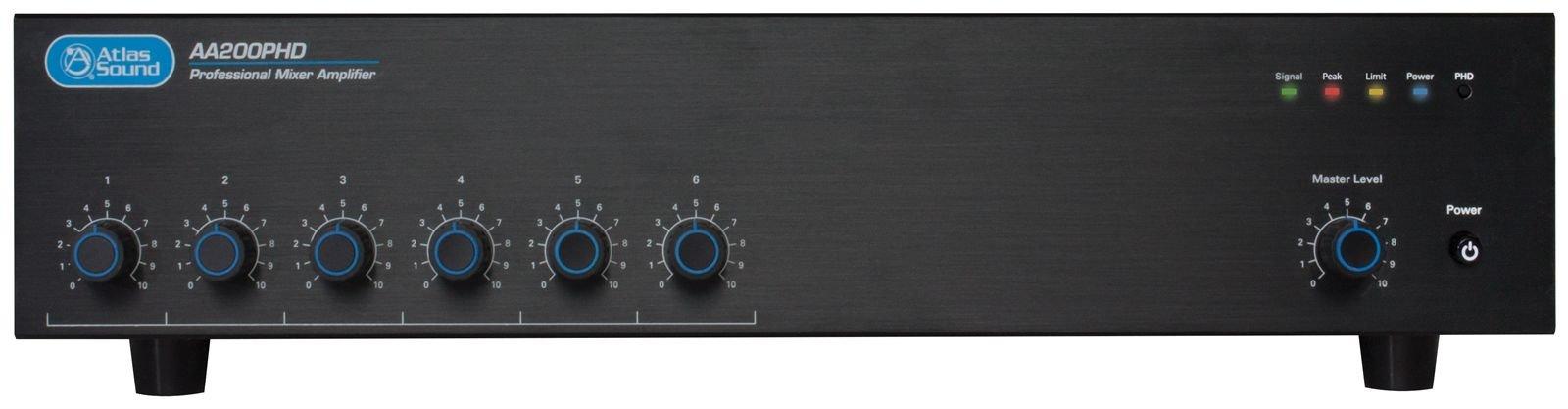 Atlas Sound 200W 6 Input Mixer Amplifier