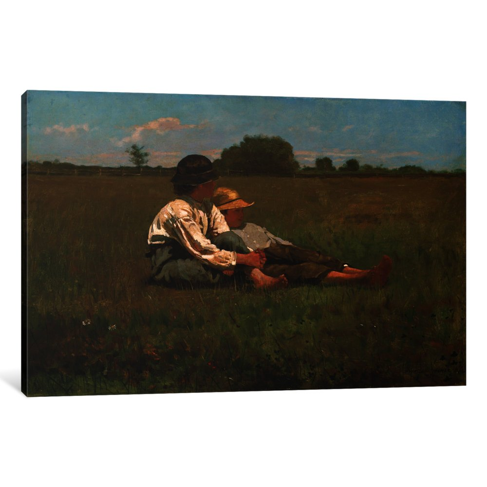 iCanvasART 1 Piece Boys in a Pasture, 1874 Canvas Print by Winslow Homer, 40'' x 26''/1.5'' Depth