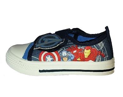 9e0158ecb508 Marvel Boys Kids Avengers Canvas Trainers Shoes Toddler Children Size UK 7-1   Amazon.co.uk  Shoes   Bags