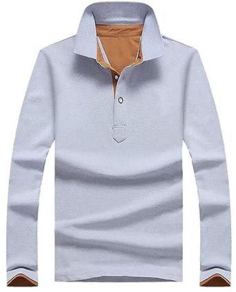 add89c5323a7ef Gayato Sakura ポロシャツ 長袖 メンズ ゴルフウェア poloシャツTシャツ スティッチング スポーツ 綿 オシャレ