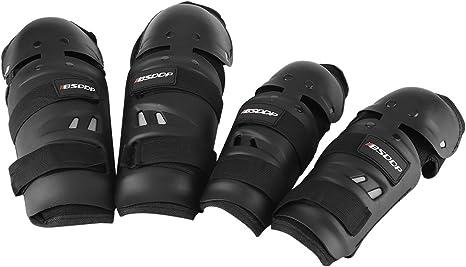 KIMISS 4 Protège genoux Protège coude au Coude Équipement de Protection pour le Cyclisme sur Motocross