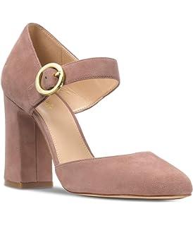 cd4115135f57 Michael Kors Women s Alana Closed Toe Suede Dusty Rose Size 10 M