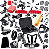 BAXIA TECHNOLOGY 44-in-1 Accessories Bundle Kit for GoPro HERO 5 Session 4 3+ 3 2 1 Black Silver SJ4000/5000/6000, Sports Camera Accessories for Xiaomi Yi/ AKASO/ WiMiUS/ Lightdow/ DBPOWER/ APEMAN/ Aokon/ ANART