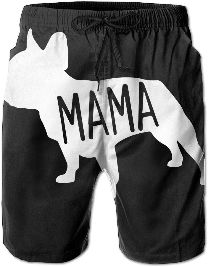 French Bulldogs Mama Mens Printing Board//Beach Shorts Sports Runnning Beachwear with Pockets