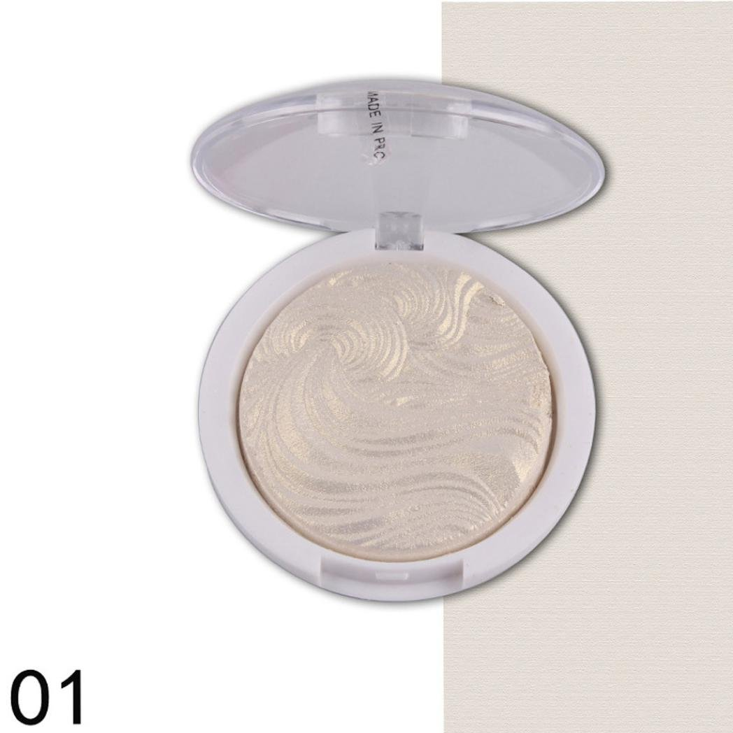 samLIKE 3D Shimmer Highlighter Gesichtspuder-Palette Gesicht Base Shine Illuminator Make up (D)