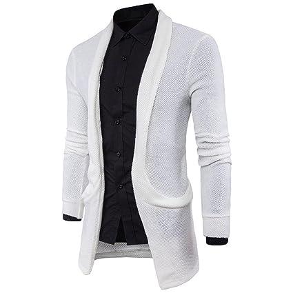 Stylish Mens Knitted Cardigan Jacket Slim Long Sleeve Casual Sweater Coat Blazer