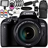Canon EOS 800D DSLR Camera with 18-135mm STM Lens 13PC Accessory Bundle – Includes 32GB SD Memory Card + 3PC Filter Kit (UV + CPL + FLD) + MORE - International Version (No Warranty)
