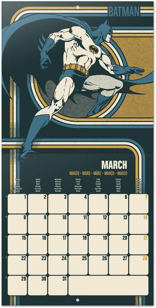 30x30 cm Calendario de pared 2021 DC Originals ERIK