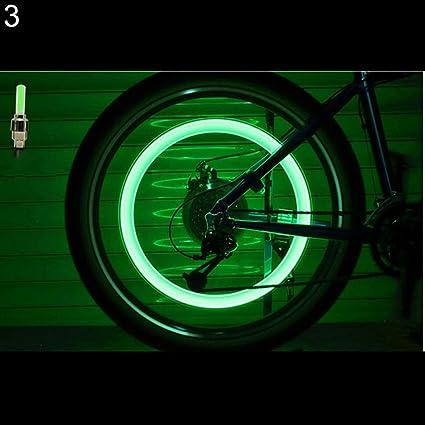 Car LED Bike Motor Valve Stem Cap Flashing Light Bicycle Wheel Tire Tyre Lamp