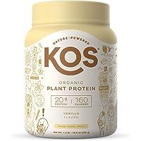 KOS Organic Plant Based Protein Powder, Vanilla - Delicious Vegan Protein Powder - Gluten Free, Dairy Free & Soy Free…