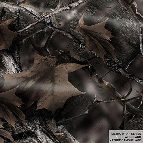 Metro Wrap Series Woodland Nature Camouflage 5ft x 1.25ft (5.1 sq/ft) Camo Vinyl Car Wrap - Camo Window Tint