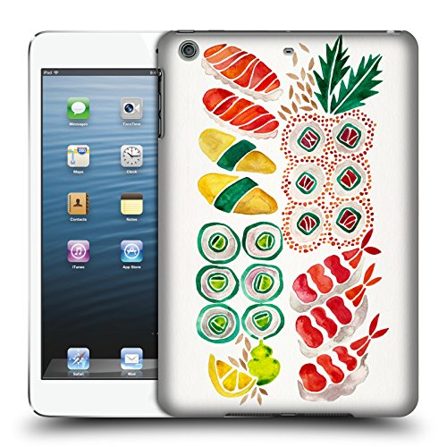 Display Sushi Case (Official Cat Coquillette No Platter Sushi Food Hard Back Case for Apple iPad mini 1 / 2 / 3)