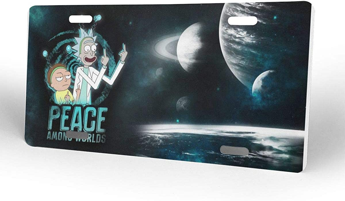 D0zopazkw License Plate Cover Funny License Plate 12 X 6 Rick N Morty
