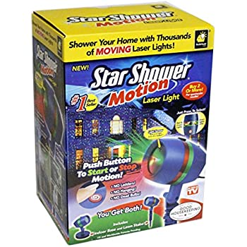Star shower as seen on tv motion laser lights star projector garden outdoor for Star shower motion m6