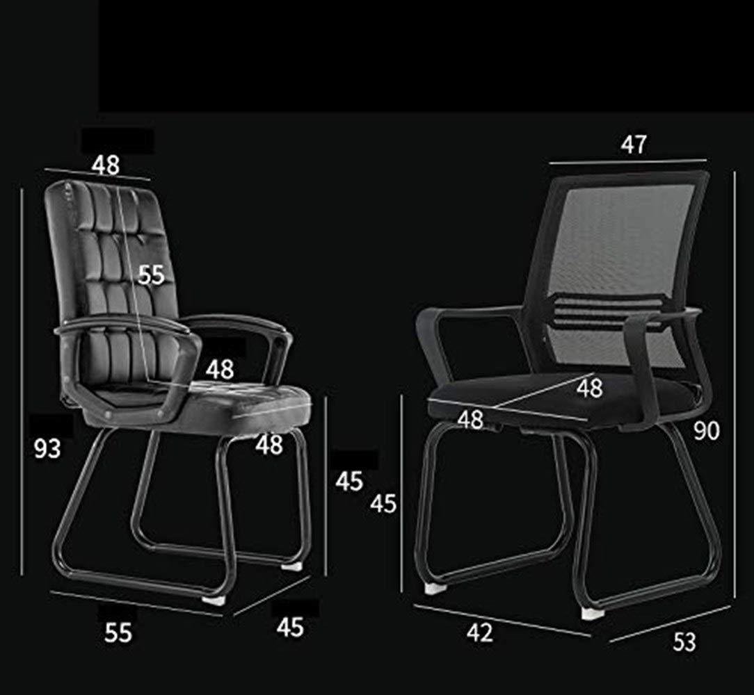 Kontorsstol personalstol mottagningsstol multifunktion andningsbar komfort hushåll lärande stol datorstol GMING (färg: blå) Svart