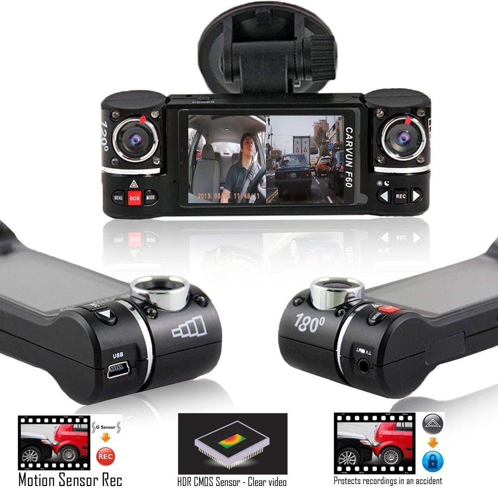 Indigi® F5 coche Dash Cam con detección de movimiento, grabación Dash cámara de protección de archivos y aro de emergencia para coches camiones automóviles: ...