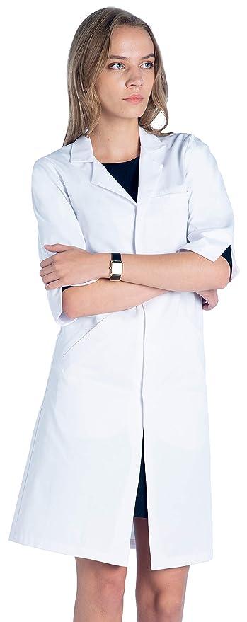 Dr. James Bata de Laboratorio para Mujeres con Mangas Cortas: Amazon.es: Ropa y accesorios