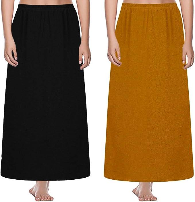 Lote de 2 Piezas Falda de Chica, Color Liso, Cintura elástica ...