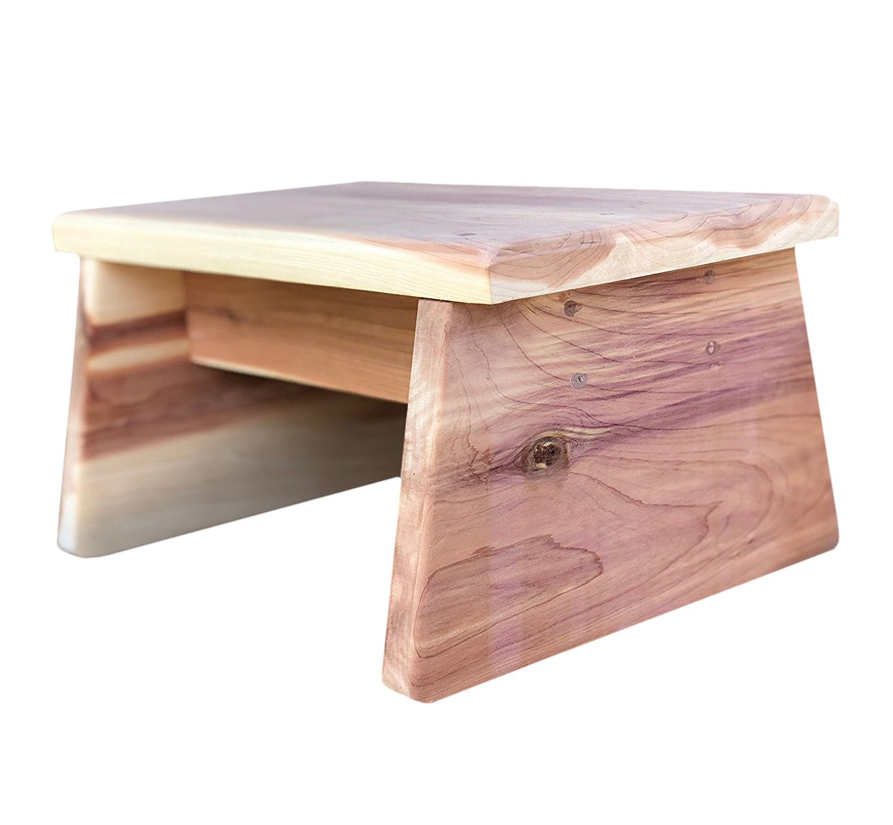 Vundahboah Amish Goods Cedar One Step Stool (Straight Leg Style)