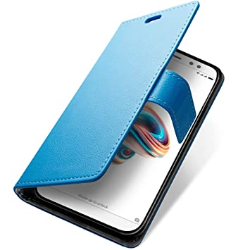 SLEO Funda Xiaomi Redmi Note 5 Pro/Xiaomi Redmi Note 5 Carcasa Libro de Cuero con Tapa Ultra Delgado Billetera Cartera [Ranuras de Tarjeta,Soporte ...