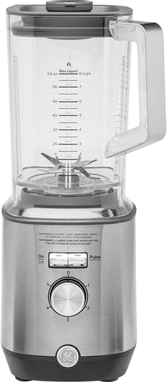 GE Blender, Powerful 1000 Watt Blender with 72-Ounce Tritan Jar, 5 Speeds with Pulsing Option, Stainless Steel, G8BJAASSPSS