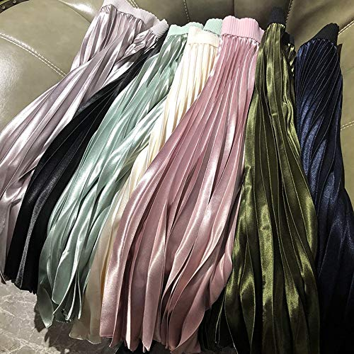 Talla Única Plisadas Para Falda Bola Alta Larga Qzbtu Faldas Metálico De Mujer Cintura Color qaAwxBwHF