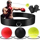 Boxing Reflex Ball - Boxing Training Ball 3 Difficulty Level Boxing Ball with Headband, Suit for Reaction, Agility, Punching Speed, Fight Skill and Hand Eye Coordination Training