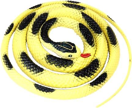 Gazechimp Serpent Plastique Jouet Accessoires Blague Jardin Faire Peur Jaune Noir Amazon Fr Jeux Et Jouets