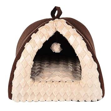 Casa y Sofá para Mascotas, Cama de Perro Gato Cojín de Mascotas Removible y Lavable Casa Perrera para Perros Pequeños Gatos: Amazon.es: Productos para ...