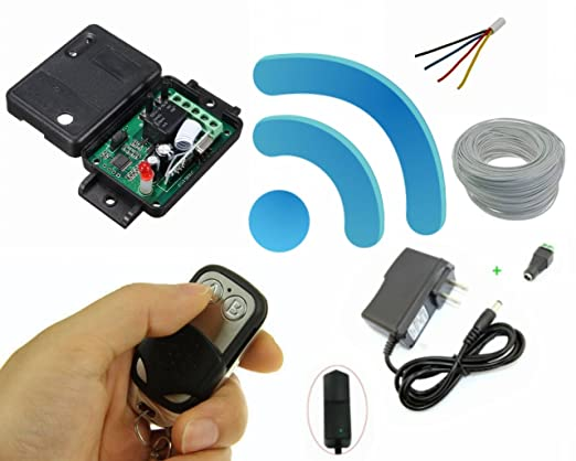Wireless Remote Control Switch Kit : for Electric Strike Or Magnetic Lock Systems : Remote Control System - - Amazon.com