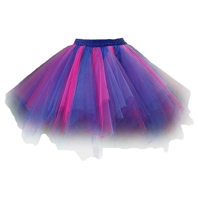 Hibote Vintage Lindo Irregular Minifalda Falda de tutú Enagua Mujeres niñas Tul Vestido de Bola Busto