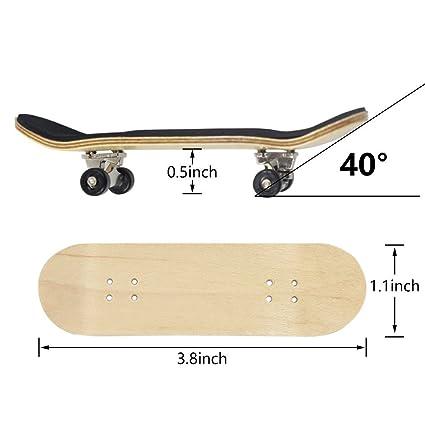 Amazon.com: Mini Fingerboard, Professional Finger Skateboard ...
