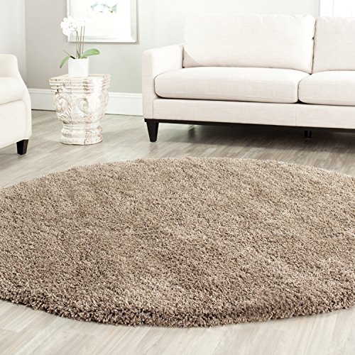 Safavieh California Shag Collection SG151-2424 Taupe Round Area Rug (4