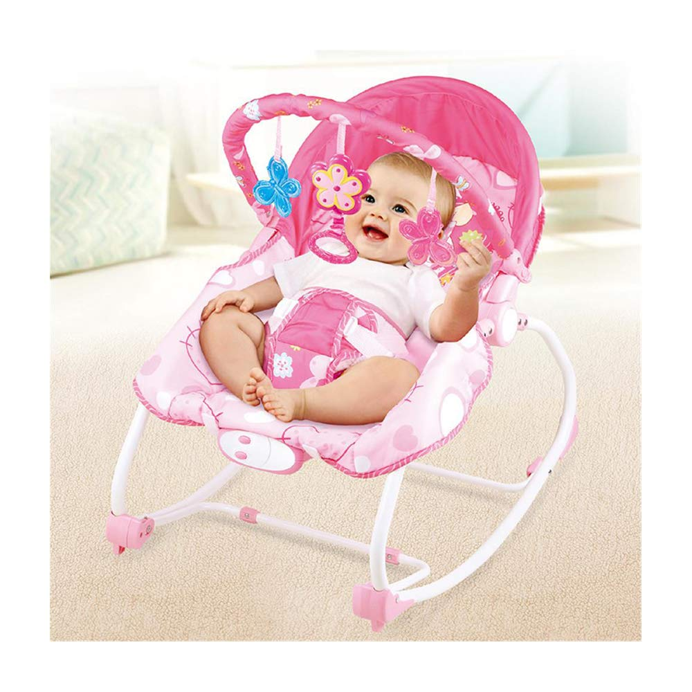 JFMBJS Baby Rocker Chair, Portable Baby Comfort Bouncer with Music Vibration, Multifunctional Electric Baby Rocking Chair Toy for 0-3 Years Old by JFMBJS