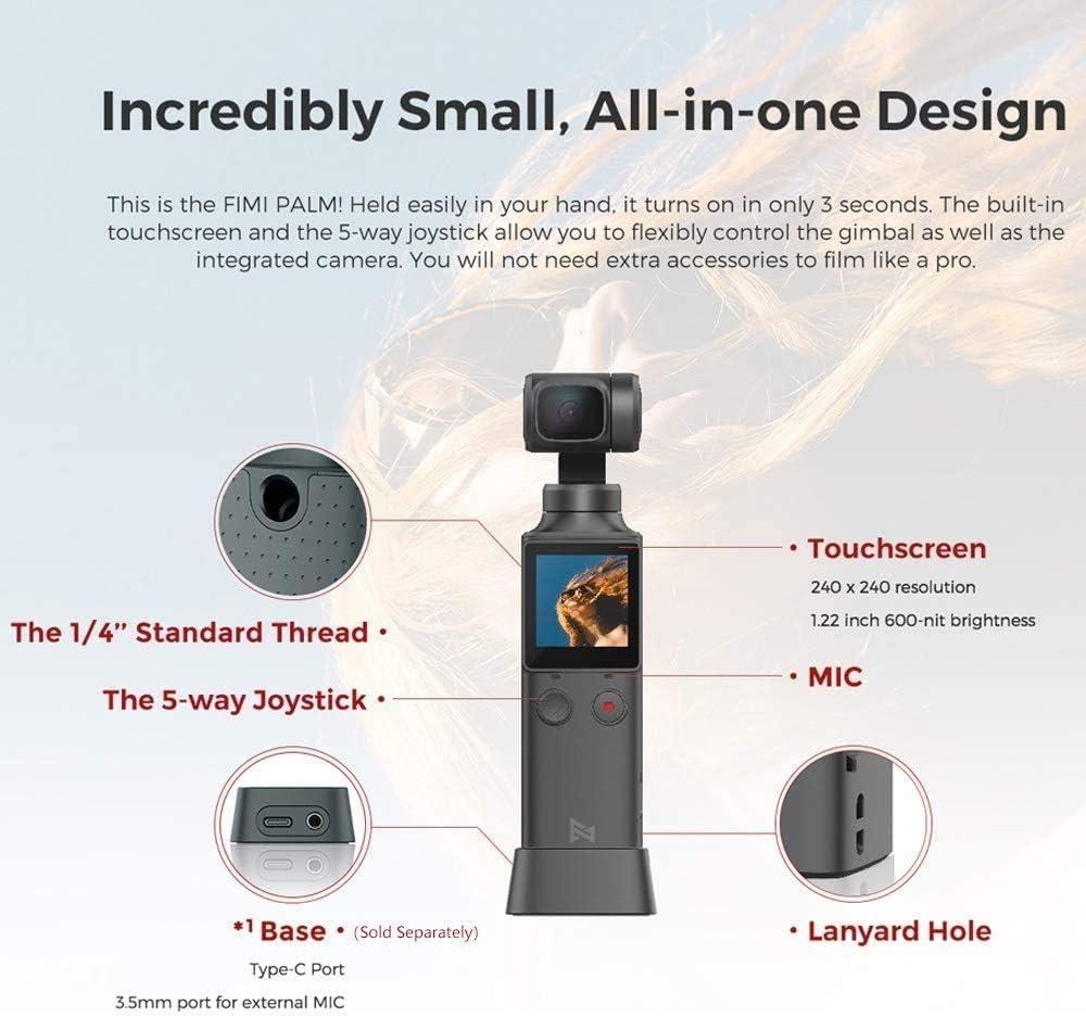 Multifunktionaler B/ügelhalter mit 1//4 Zoll Schnittstelle Deylaying Tragbares Stativ mit Adapterbasis f/ür Fimi Palm Gimbal Kamera