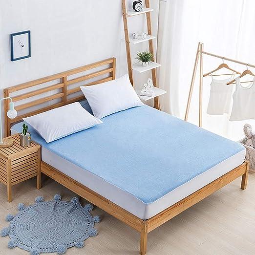 Funda de colchón de algodón Fundas de colchón impermeables Sábana ...
