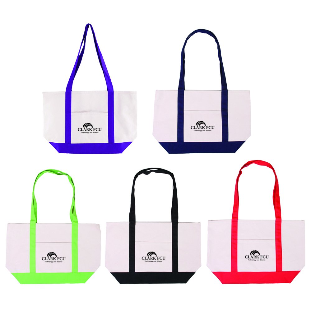 Cotton Canvas Boat Tote - 25 Quantity - $12.15 Each - PROMOTIONAL PRODUCT / BULK / BRANDED with YOUR LOGO / CUSTOMIZED by Sunrise Identity (Image #4)