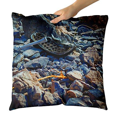 Westlake Art - Stone Wallpaper - Decorative Throw Pillow Cushion - Picture Photography Artwork Home Decor Living Room - 18x18 Inch (Bone Snake Footwear)