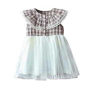 Amazon.com: Freesa - Vestido para niña, cuello redondo, para ...