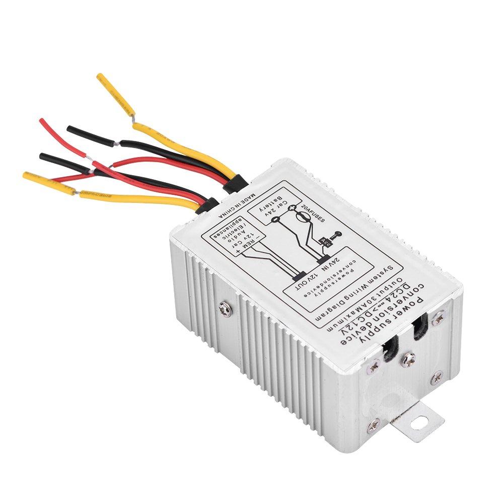 Vbestlife Power Converter Dc 24v To 12v Step Down 5a Pc Supply Wiring Diagram Electronics
