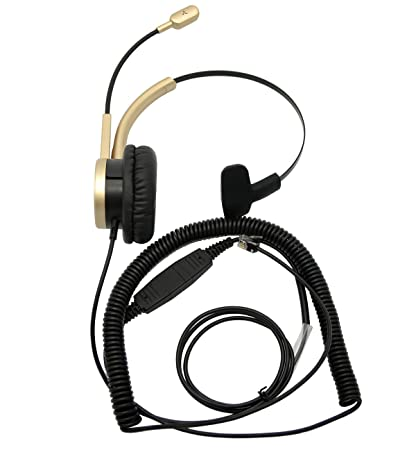 Amazon Com Telephone Headset With Rj9 For Cisco Phone Call Center