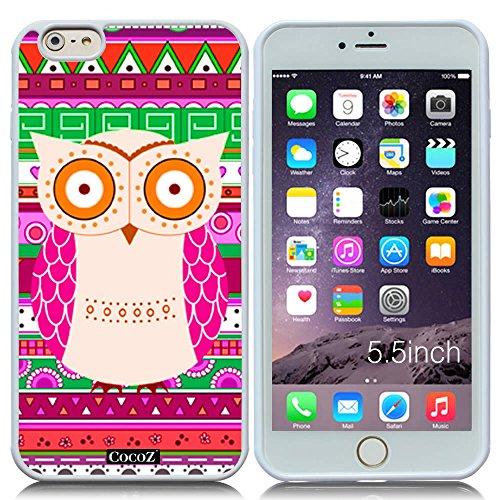 Price comparison product image New Apple iPhone 6 s Plus 5.5-inch CocoZ® Case Cute owl designs TPU (White TPU & cute owl 28)