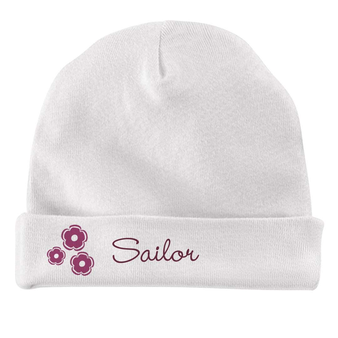 FUNNYSHIRTS.ORG Baby Girl Sailor Flower Hat Infant Baby Hat