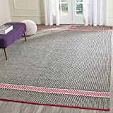 Safavieh Montauk Collection MTK820P Handmade Flatweave Light Pink and Multi Cotton Area Rug (8' x 10')