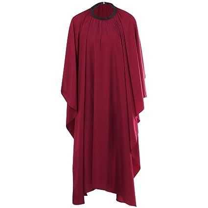 TRIXES Bata Roja Salón de Belleza Capa para Cortarse el Cabello en Peluquería