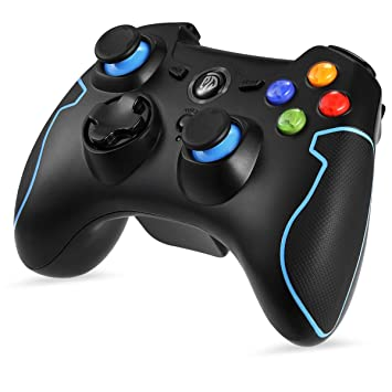 EasySMX 2 4G Wireless Controller for PS3, PC Gamepads with Vibration Fire  Button Range up to 10m Support PC (Windows XP/7/8/8 1/10), PS3, Android,